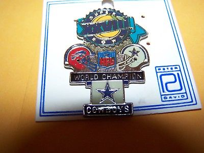 SUPER BOWL XXVIII DALLAS vs BUFFALO FOOTBALL PIN COWBOYS BILLS NFL HAT