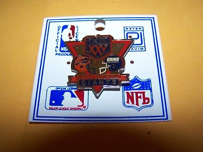 SUPER BOWL XXV NEW YORK vs BUFFALO FOOTBALL PIN GIANTS BILLS NFL HAT