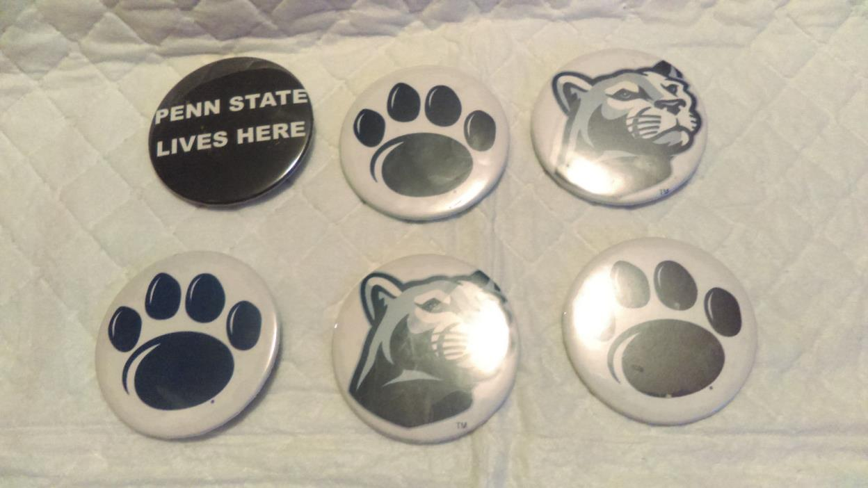 Penn State Nittany Lions Buttons lot of 7