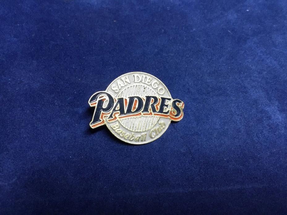 San Diego Padres Baseball Club Baseball Pin 3/4 Inch Circle MLB