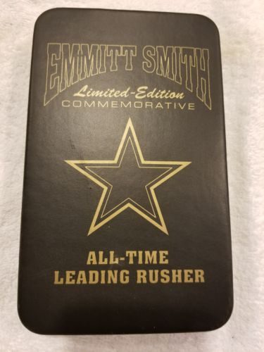 EMMITT SMITH ALL TIME LEADING RUSHER LIMITED-EDITION W/CERTIFICATE OF AUTHENTIC