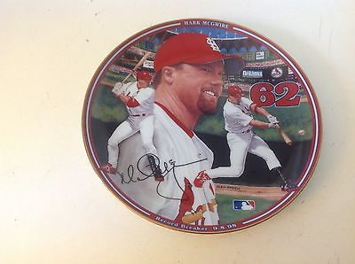 Mark McGwire Record Breaker Collector Plate 9 8 98 Home Run Hero Bradford COA