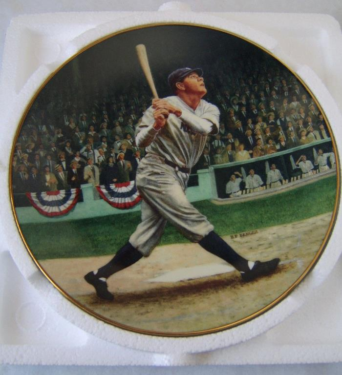 Babe Ruth 22kt gold trimmed plate - The Called Shot / Bradford Exchange