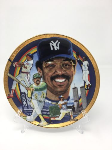 "Sports Impressions NY Yankees #44 Reggie Jackson Porcelain 4"" Collector Plate"