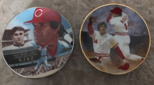 1985 Gartlan Baseball  2 Mini Plates - 3 1/4