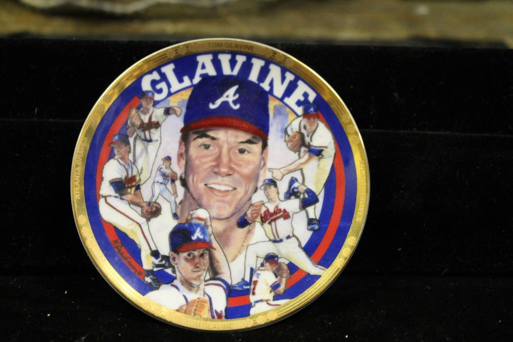 Tom Glavine Sports Impressions Collector's Mini Plate 4.25