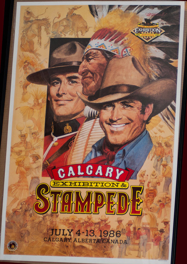RODEO POSTER - 1986 Calgary Stampede Rodeo , Laminated - Genuine-Canada-NEW-PRCA