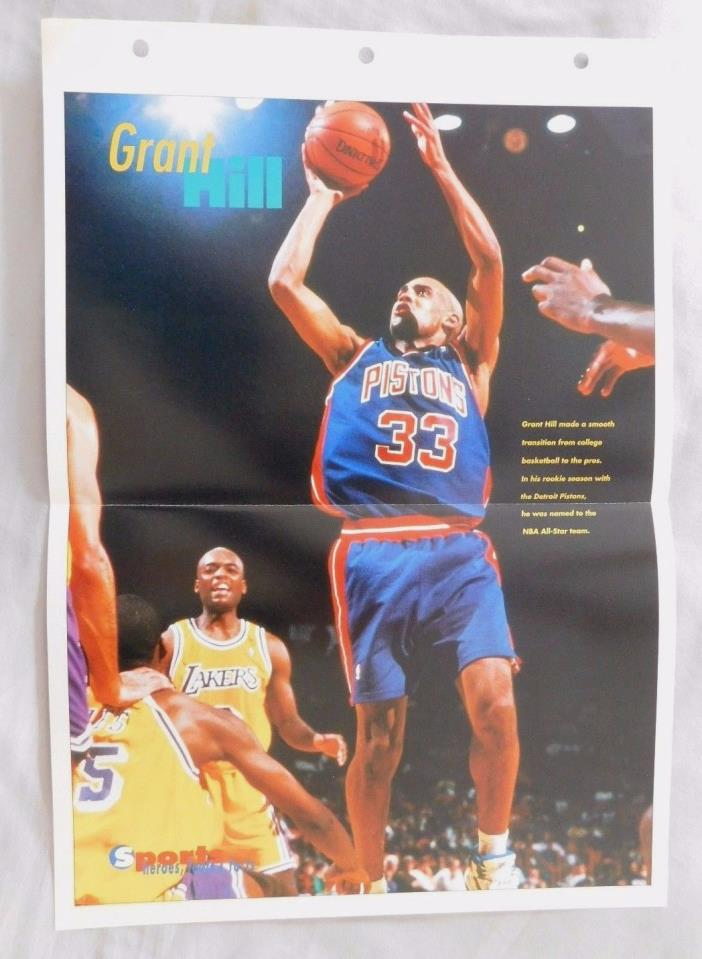 Grant Hill Detroit Pistons 14x10 Poster Page #37 Sports Heroes Sheet