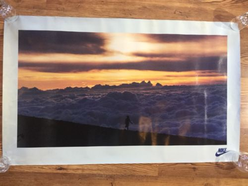 RARE Nike Running Poster Running Above Clouds