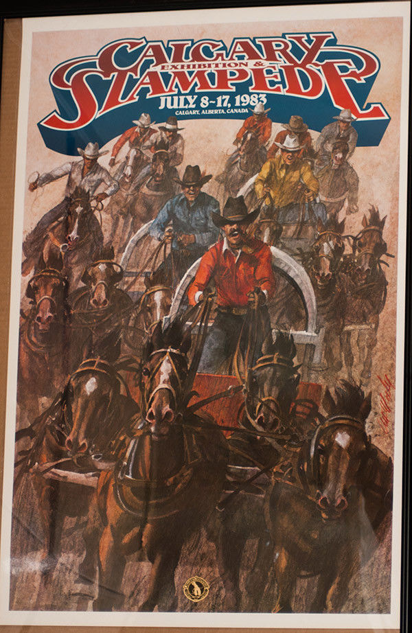 RODEO POSTER - 1983 Calgary Stampede Rodeo , Laminated - Genuine-Canada-NEW-PRCA
