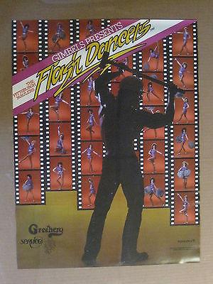 Vintage 1984 Pittsburgh Maulers USFL Flash Dancers 24 x 18 Poster GIMBELS EXMT+