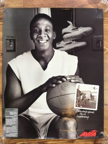Vintage Derek Harper NBA Poster Avia Advertising Store Display Mavericks Knicks