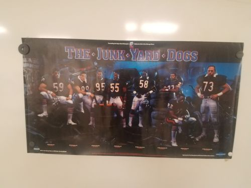 VINTAGE THE JUNKYARD DOGS CHICAGO BEARS POSTER CHEVY PROMO RICHARD DENT WGN 720
