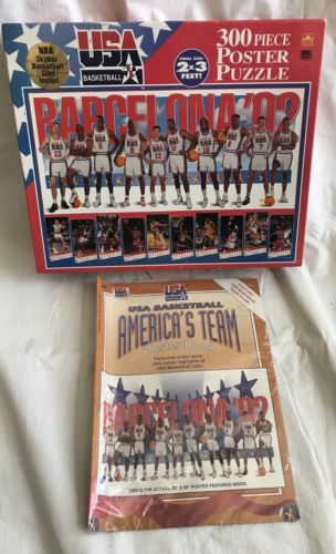 USA Basketball America's Team Poster Book And 300 Piece Puzzle