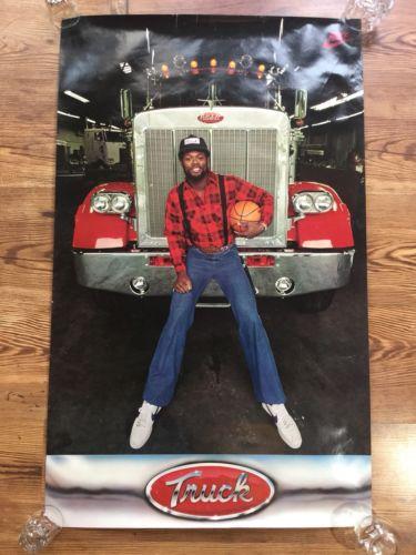 HTF NIKE Lenard TRUCK Robinson Jazz Bullets Poster Original NBA