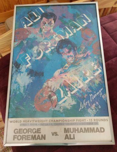 RARE ORIGINAL Muhammad Ali vs Foreman POSTER BOXING 1974 Heavyweight Champ Fight
