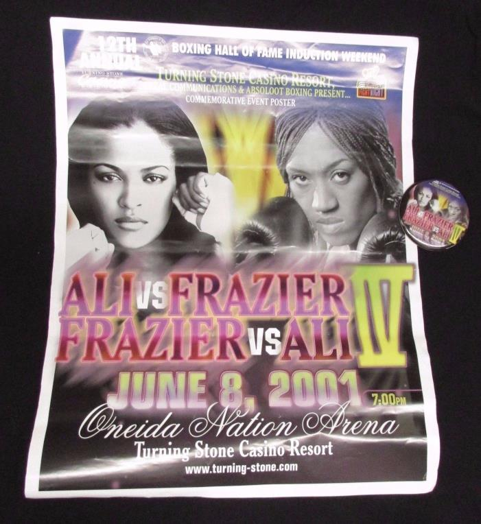 Laila Ali Vs. Jacqui Frazier IV -  Commemorative Poster & Button