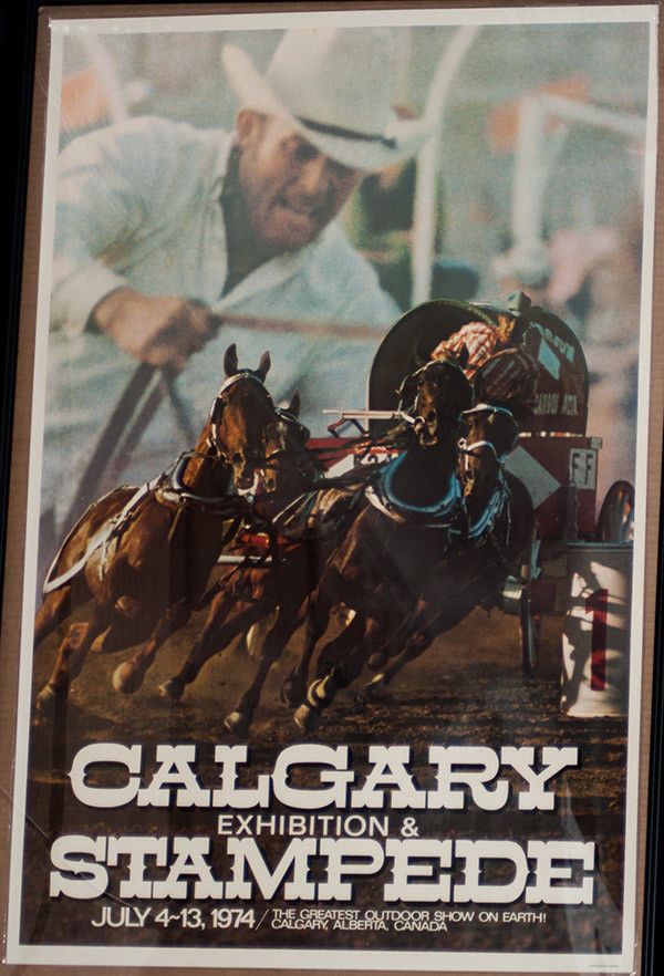 RODEO POSTER - 1974 Calgary Stampede Rodeo , Laminated - Genuine-Canada-NEW-PRCA