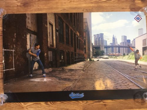 Vintage Original NIKE STICKBALL Poster Dale Murphy Dwight Gooden Brooklyn HTF