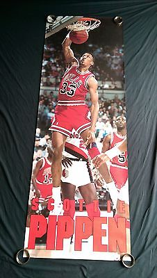 vtg NBA Chicago Bulls Scottie Pippen basketball door si starline Costacos poster