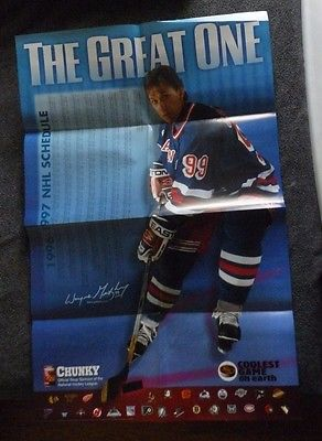 1996-97 Wayne Gretzky NHL Schedule Poster Chunky Soup New York Rangers