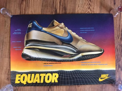 Rare Original 1984 Nike Equator Shoes Poster