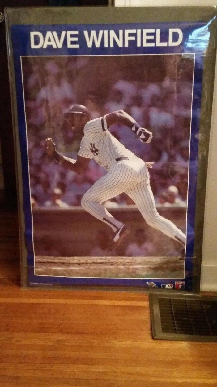 1987 Dave Winfield NY Yankees Poster Near Mint Original Sleeve Free Shipping