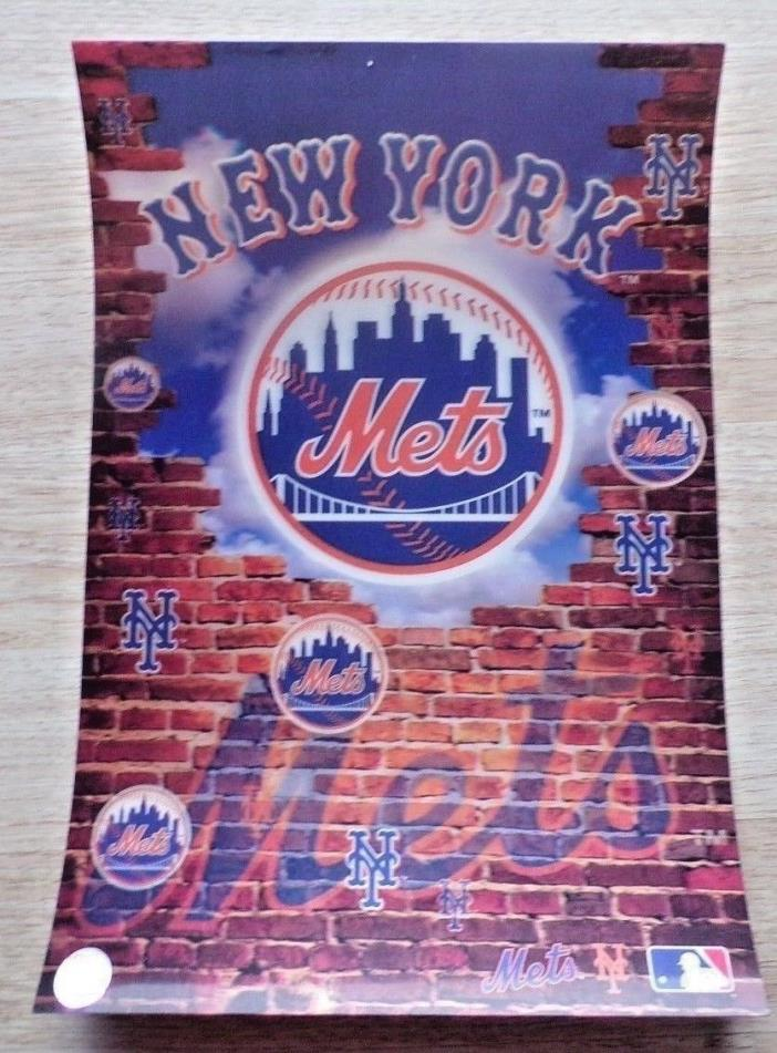 13X19 IN. MLB NY METS THICK 3-D HOLOGRAM  POSTER BY MOTION IMAGING VG+