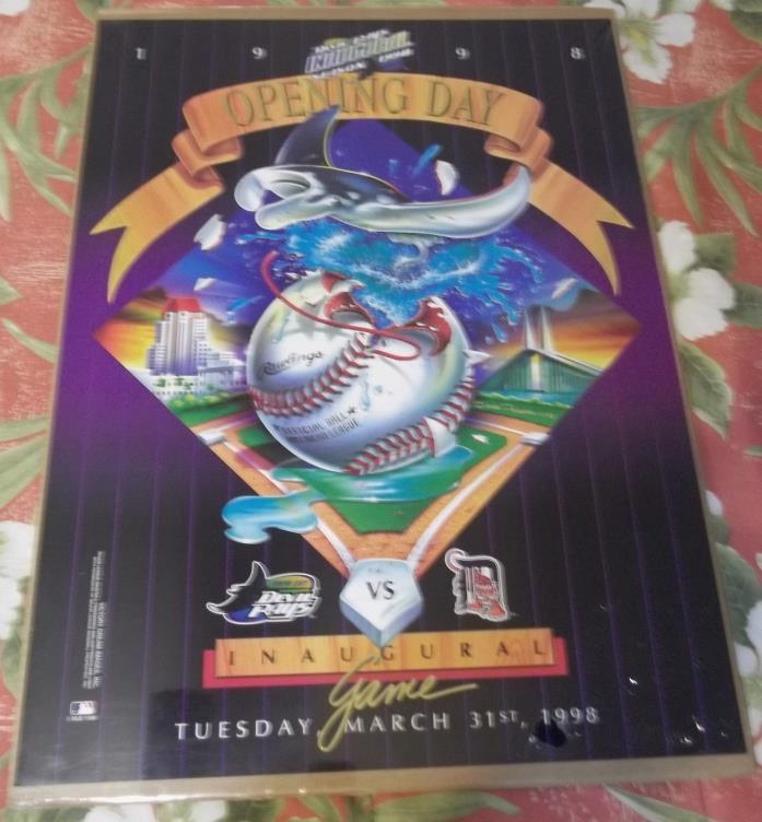 Tampa Bay Devil Rays Inaugural Season Opening Day Inaugural Game 1998 Poster