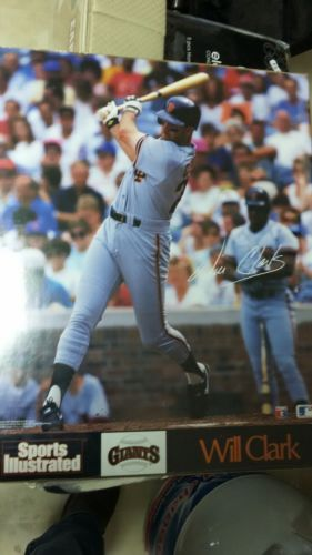 RARE WILL CLARK SAN FRANCISCO GIANTS SPORTS ILLUSTRATED POSTER