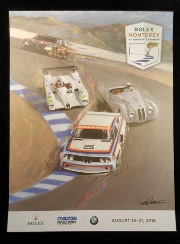 Laguna Seca Raceway Rolex 2016 BMW Reunion Poster Official Monterey 24