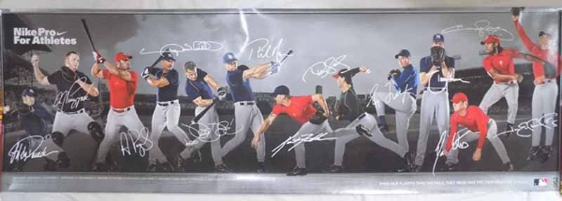 Nike Pro Baseball Athletes 2005 Limited Edition Signed Poster #163/200 VERY NICE