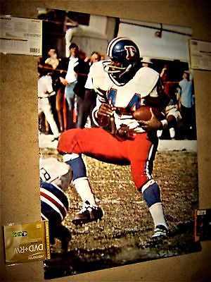 RARE 1970 FLOYD LITTLE SI SPORTS ILLUSTRATED POSTER DENVER BRONCOS ''LAST ONE''!