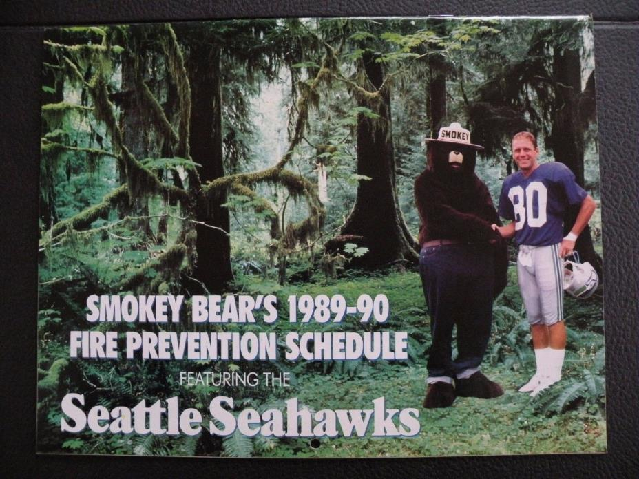 1989-1990 Seattle Seahawks Calendar