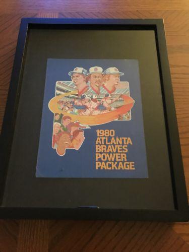 RARE 1980 ATLANTA BRAVES BASEBALL POWER PACKAGE PAMPHLET MANCAVE