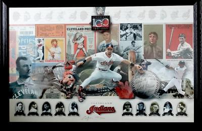 1901-2001 Cleveland Indians 100 Anniversary Ltd Edition 283/1000 Signed Poster
