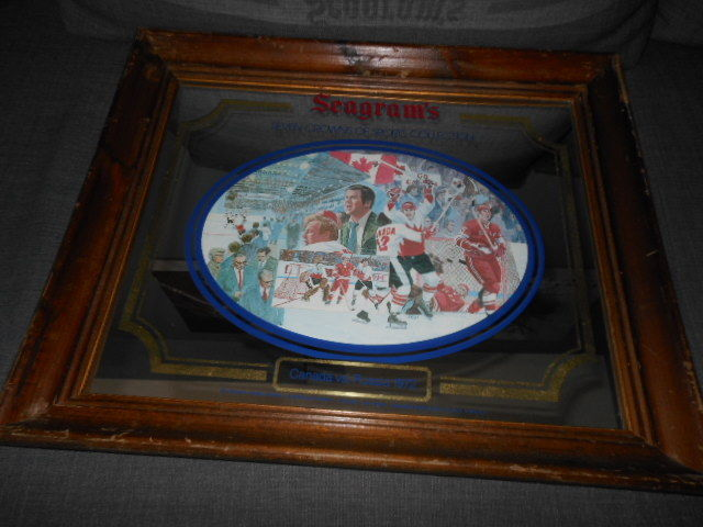 SEAGRAM'S SEVEN CROWNS OF SPORTS COLLECTION CANADA VS. RUSSIA 1972 MIRROR