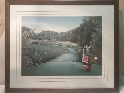 Designer Jack Nicklaus Framed Matted  Golf Art Print #12 Glen Abbey 28x23