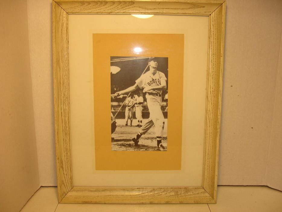 VINTAGE TED WILLIAMS PRINT...FRAMED...15-3/4