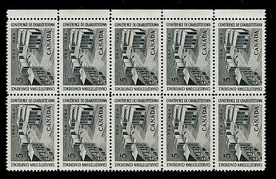 Canada 1964 5c Charlottetown Conference Block of 10  MNH