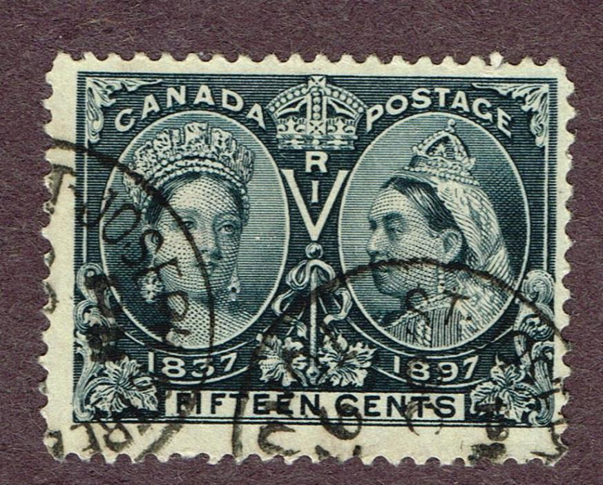CANADA JUBILEE #58 ST JOSEPH QUEBEC  CANCEL F-VF  (ULY5