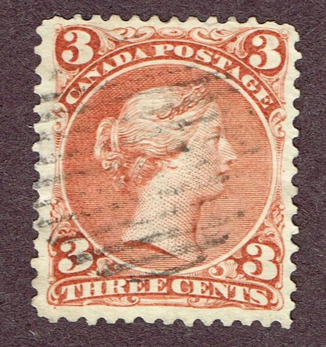 CANADA LARGE QUEEN #25 VF (ULY4