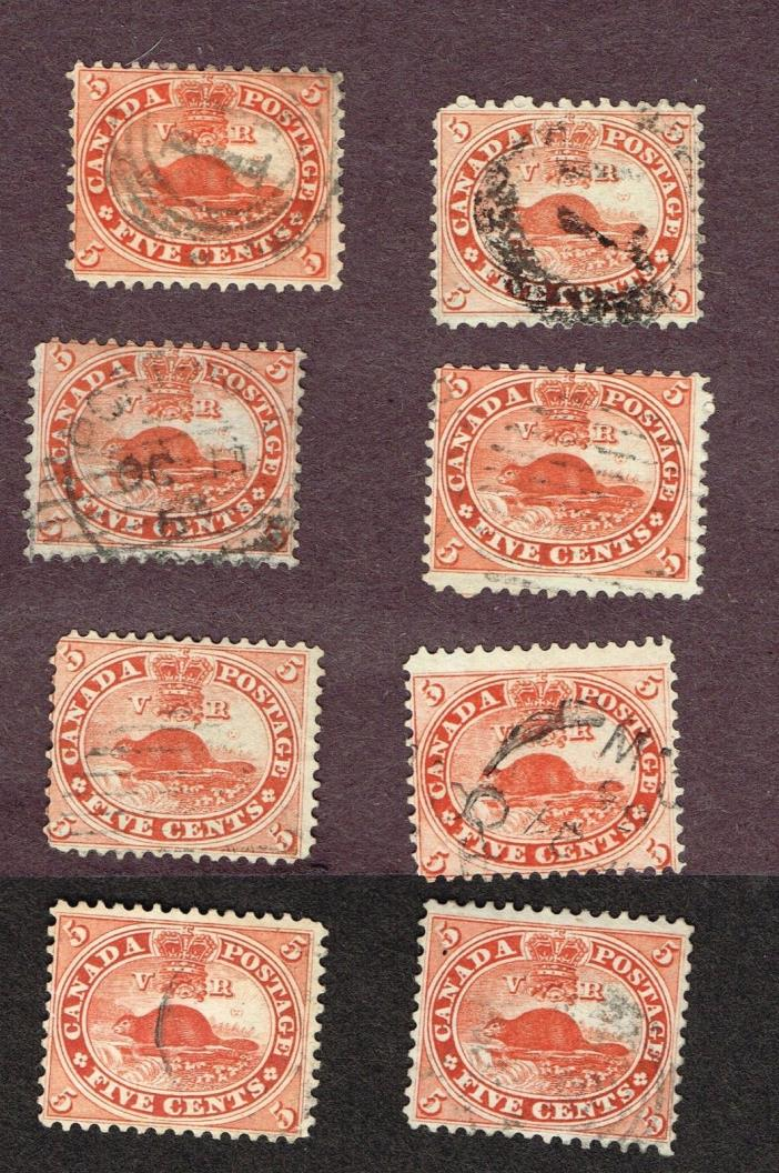 CANADA #15 PAPERS PERFS AND SHADES FINE   (NOR25,24