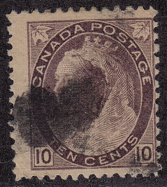 CANADA Used Scott # 83 Queen Victoria - pencil # (1 Stamp)