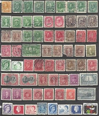 67 Cancelled Stamps ~ CANADA ~ Some VERY OLD ~ Nice Variety ~ Many Different