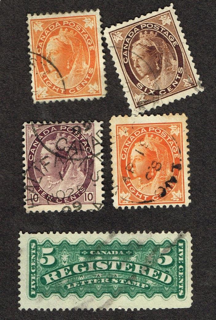 CANADA F-VF USED #72 ETC   (OCR15