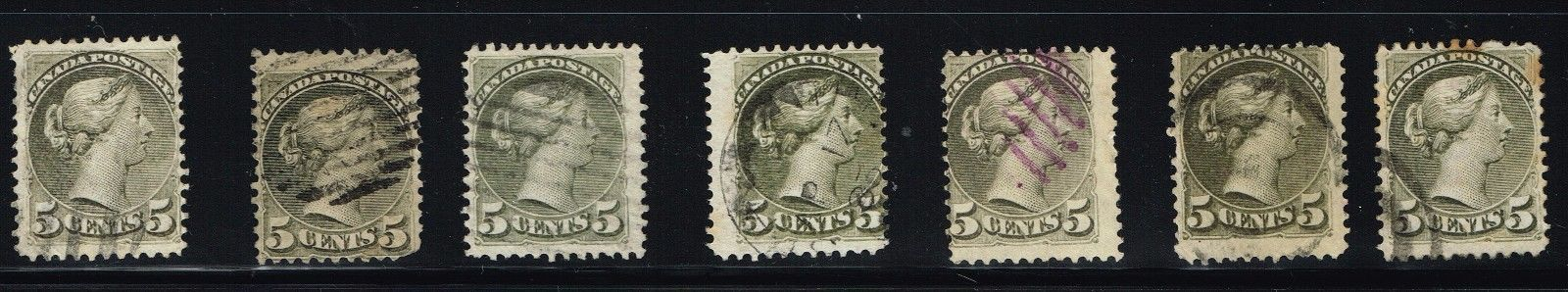 CANADA SMALL QUEEN 38 F-VF (OCR6,8