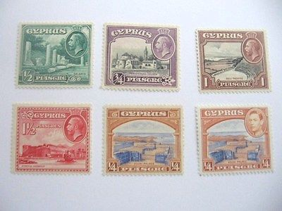 Cyprus Lot of 6 MVLH 1934-38 Issue