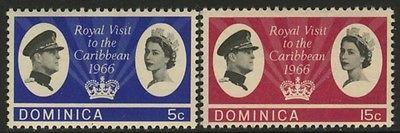 Dominica 193-4 MNH Queen Elizabeth, Royal Visit