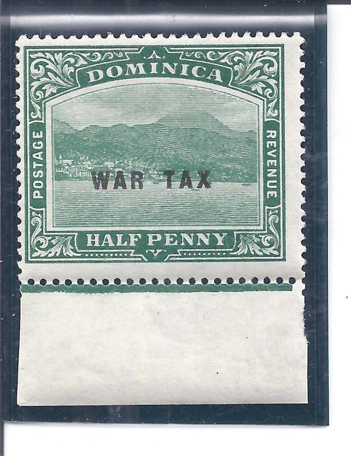 DOMINICA...# MR2...WAR TAX STAMP...1918... Mint  NH...SCV  $ 5++